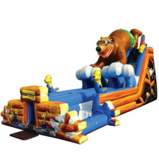 Bear Camp Dual Lane Water Slide