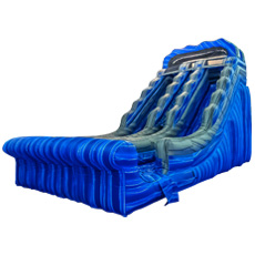 Blue Surf Dual Lane Water Slide